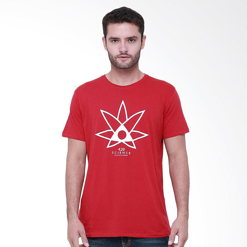 Tendencies 420 Science T-shirt Pria - Merah
