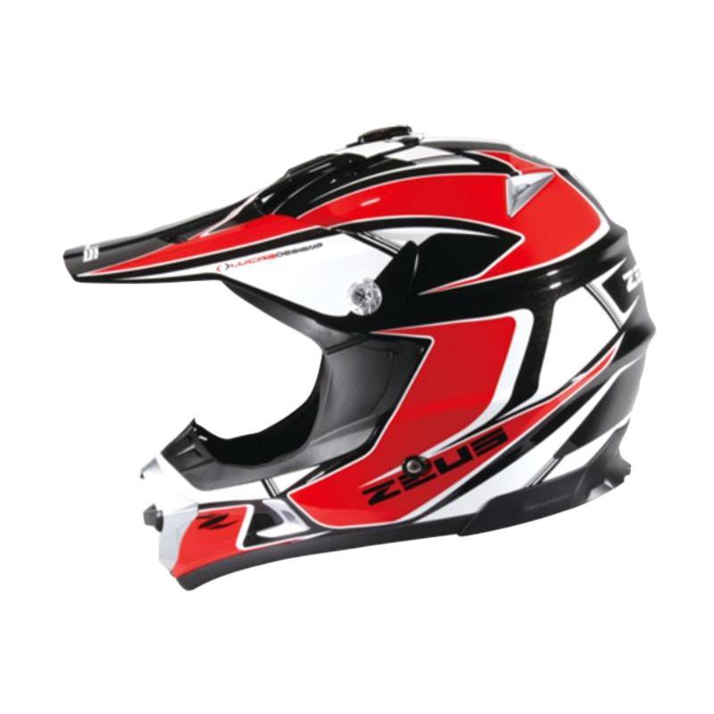 Zeus ZS-951 RR12 Grafik Helm Fullface Motocross - Putih Merah