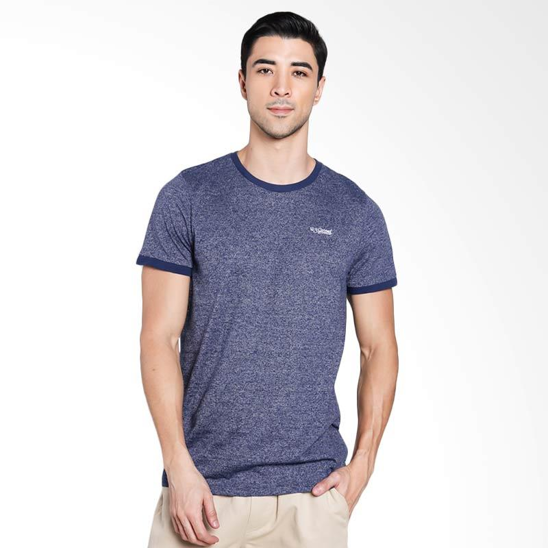 3SECOND Men 9901 T-Shirt Pria - Blue