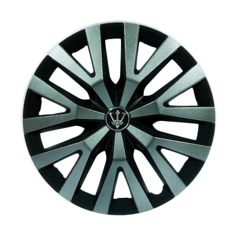 SIV Sport Wheel Cover Evolution Design WD3-1GR-14 Inch Dop Roda Mobil - Black Grey