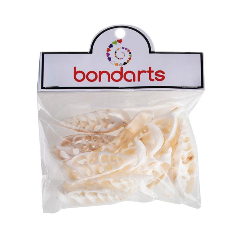 Bondarts Congcong Iris Kerajinan - Putih [15 pcs]