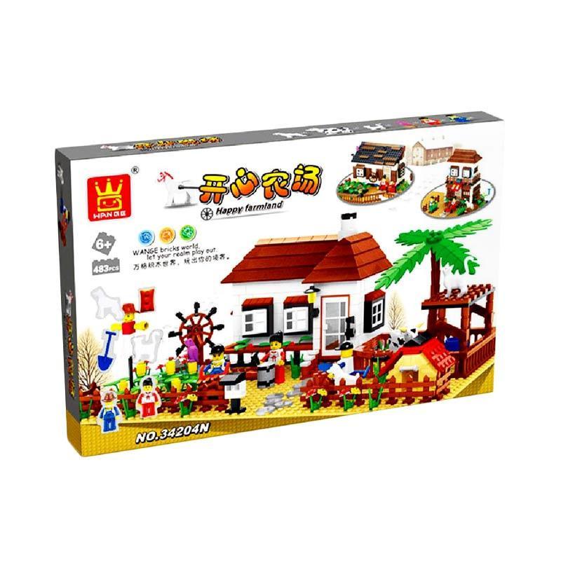 Wange 34204N Happy Farmland Mini Blocks