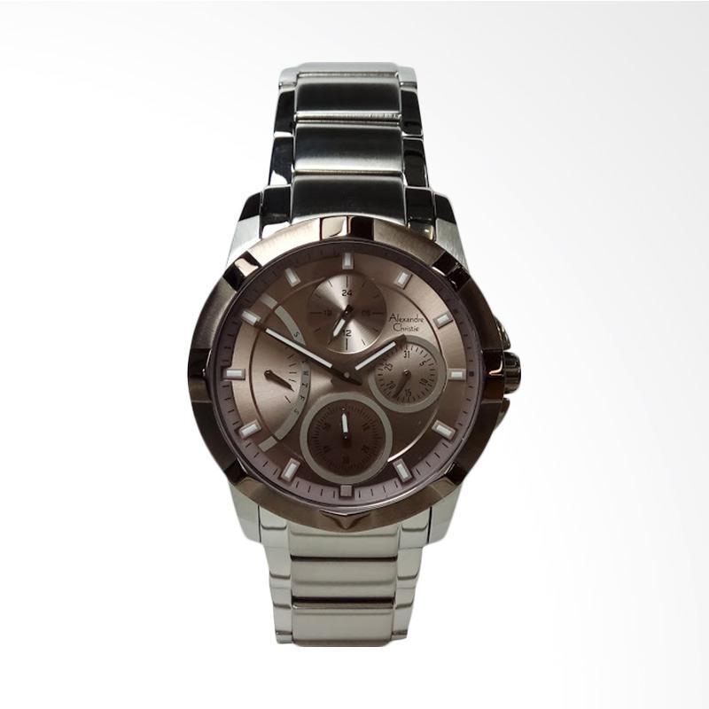 Alexandre Christie AC2503BF Multifunction Stainless Steel Jam Tangan Wanita - Silver Grey