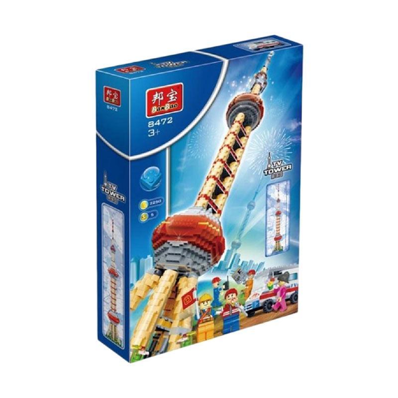 Banbao 8472 Tv Tower Bricks Mainan Blok & Puzzle