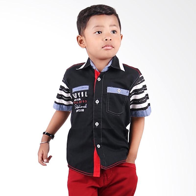 Woffi HK5-04-686 Kemeja Pendek Royal Yatch Club Baju Atasan Anak - Hitam