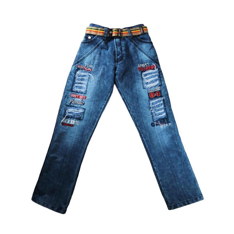 Sanjaya Jeans Sobek Celana Anak - Biru