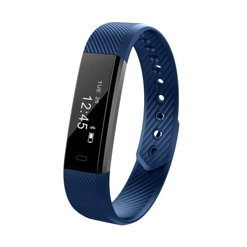 harga SOXY ID115Lite CC0384B Smart Bracelet TPE Material Anti-theft Camera Phone Search Device LED Screen Wrist Smartwatch - Blue Blibli.com