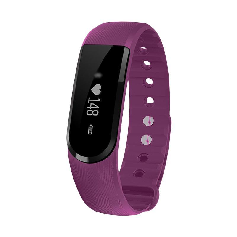 harga SOXY ID101 CC0354P Pedometer Fitness Tracker Heart Rate Monitor Bracelet Smartwatch for iPhone or Smartphone - Purple Blibli.com
