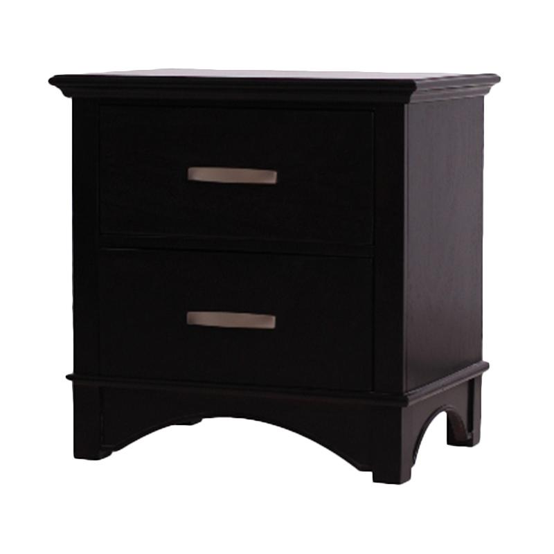 Thema Home 1076 Nightstand Ibiza Chocolate Chest of Drawers [Wilayah Surabaya]