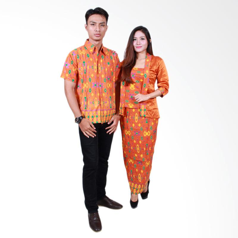 Batik Putri Ayu Solo SRG 501 Sarimbit Ayuna Baju Batik Couple - Orange