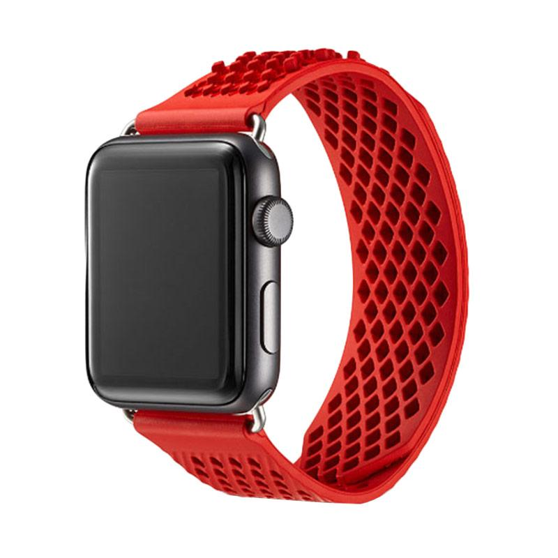 LOLLYPOP Diamond Grip Sports Band Strap for Apple Watch 38 mm - Red