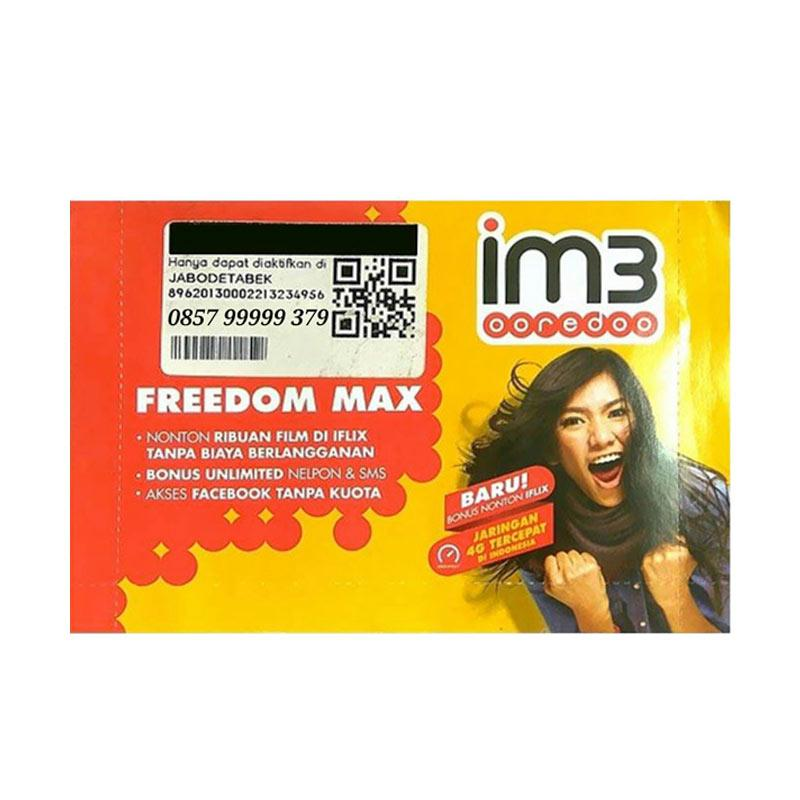 Indosat IM3 Chip Nomor Cantik 0857 99999 379 Kartu Perdana [4G LTE]