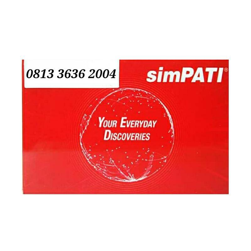 Telkomsel Simpati Nomor Cantik 0813 3636 2004 Kartu Perdana [4G]