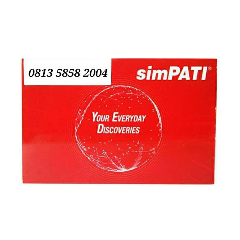 Telkomsel Simpati Nomor Cantik 0813 5858 2004 Kartu Perdana [4G]