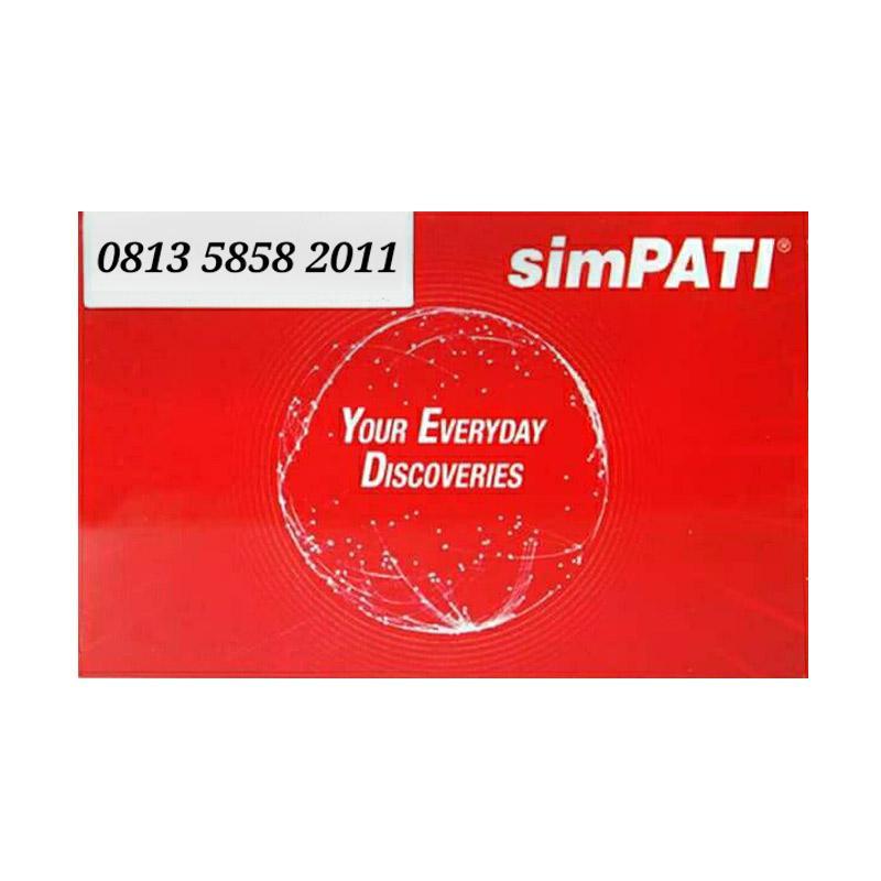 Telkomsel Simpati Nomor Cantik 0813 5858 2011 Kartu Perdana [4G]