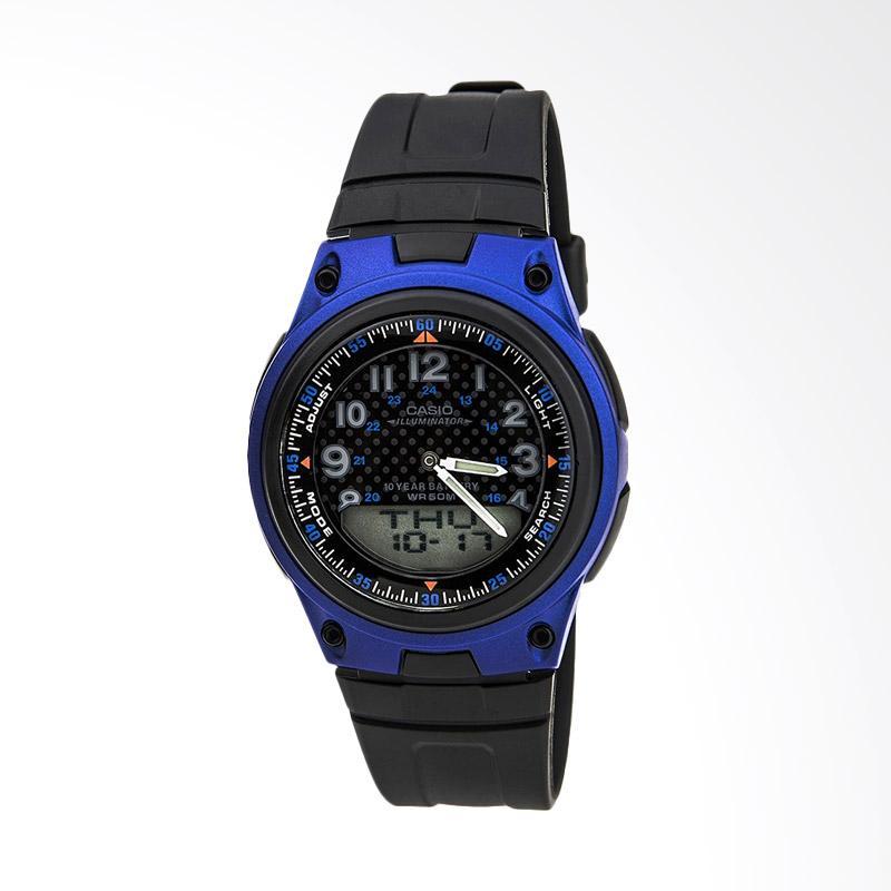 CASIO World Time Jam Tangan Pria - Hitam [AW-80-2BVDF]