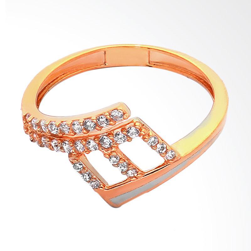Whizliz 9K Ring Cutout Midi Stud Cincin Emas - Gold