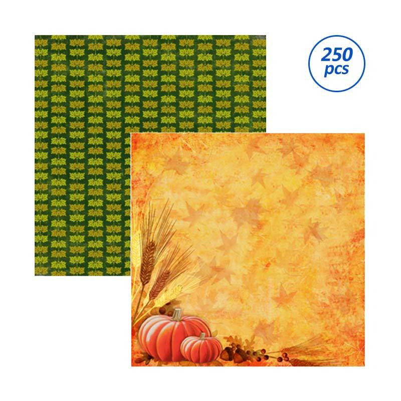 SP115 Autumnal Scrapbooking Paper - [25 Sheets per Bungkus/ 10 Bungkus per Package]