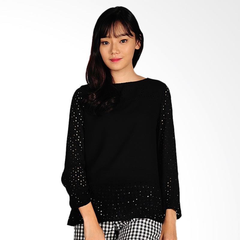 SJO & SIMPAPLY Noval Women Long Sleeve Blouse - Black