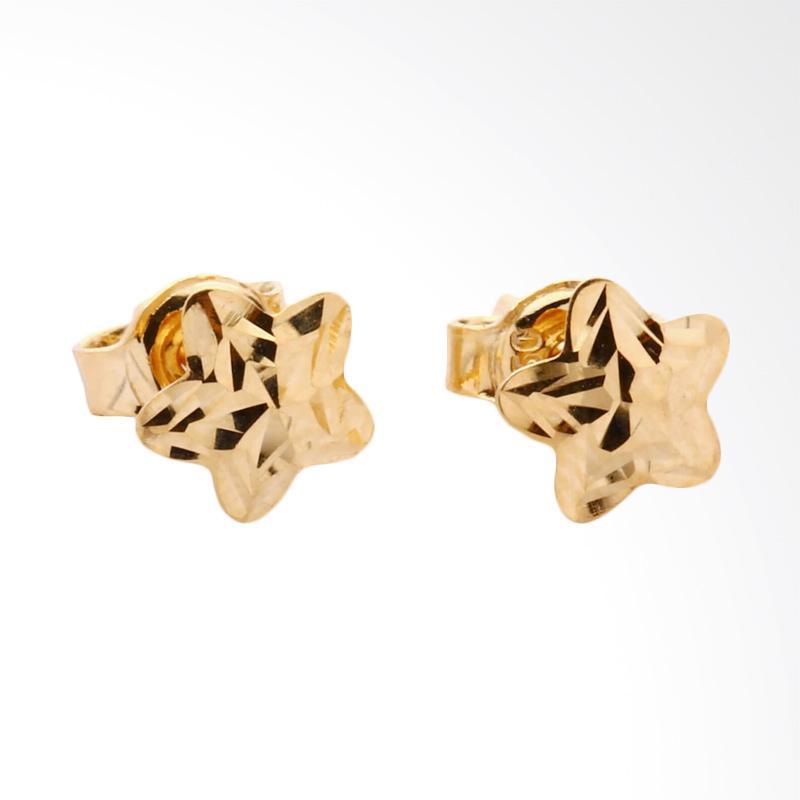 WhizLiz Aine Star Gold Earrings Anting Emas [18K]
