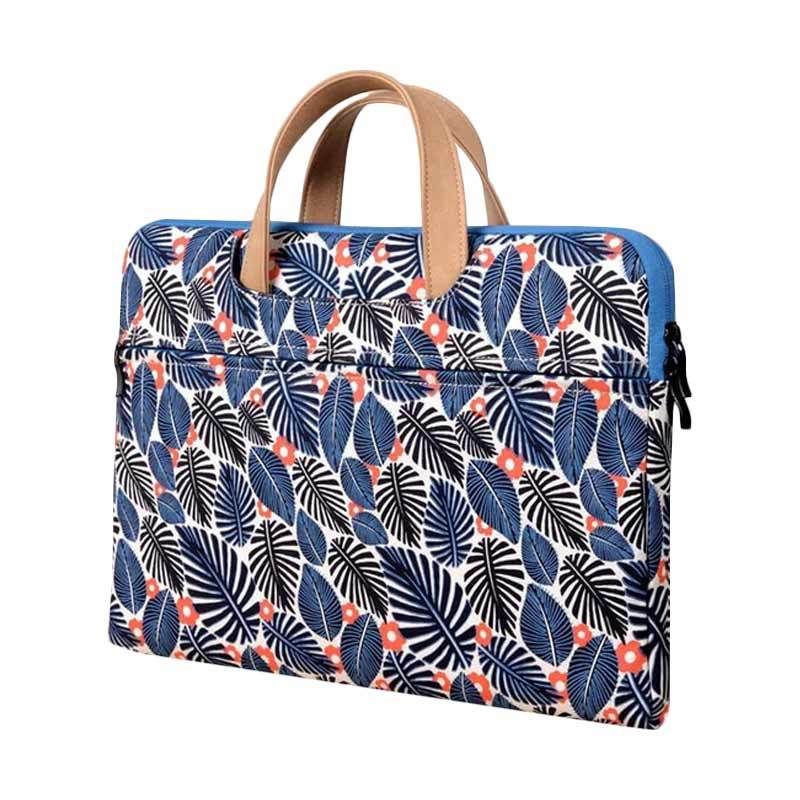 Cooltech Printed Leaves Softcase Tas Laptop [14 Inch]