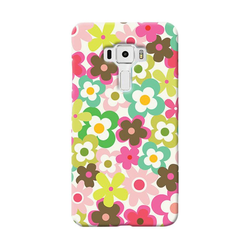 Premiumcaseid Cute Colorful Flower Hardcase Casing for Asus Zenfone 3