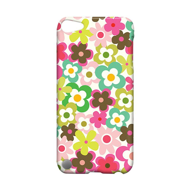 Premiumcaseid Cute Colorful Flower Hardcase Casing for iPod 5