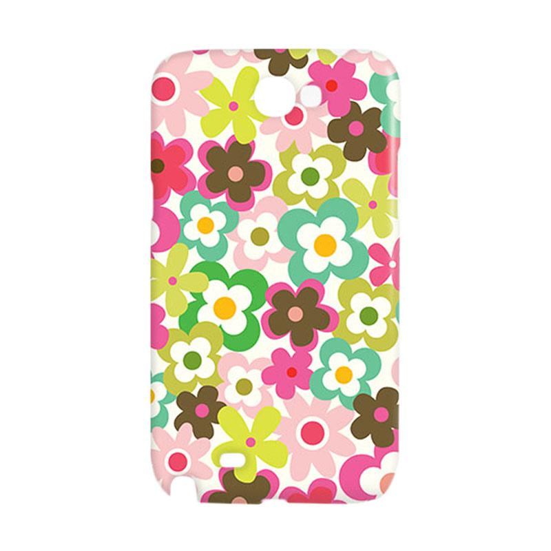 Premiumcaseid Cute Colorful Flower Hardcase Casing for Samsung Galaxy Note 2 - Multicolor