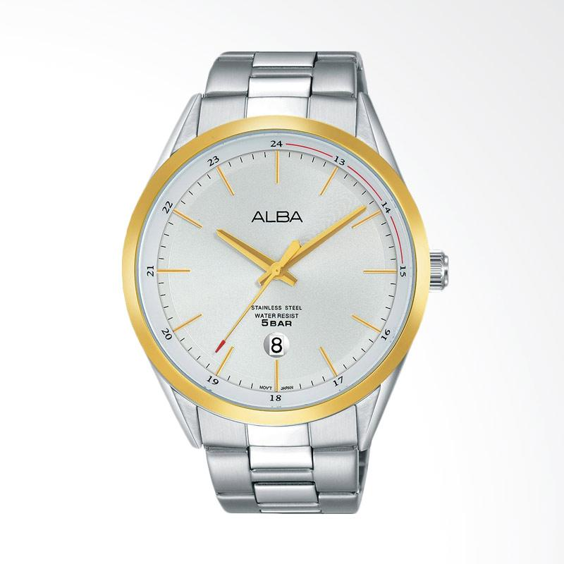 Alba Jam Tangan Pria - Silver Gold [AS9D32X1]