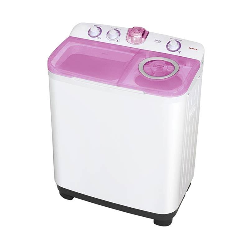 harga Sanken TW-9900 Mesin Cuci - Putih Pink [2 Tabung/ 7.5 kg] Blibli.com