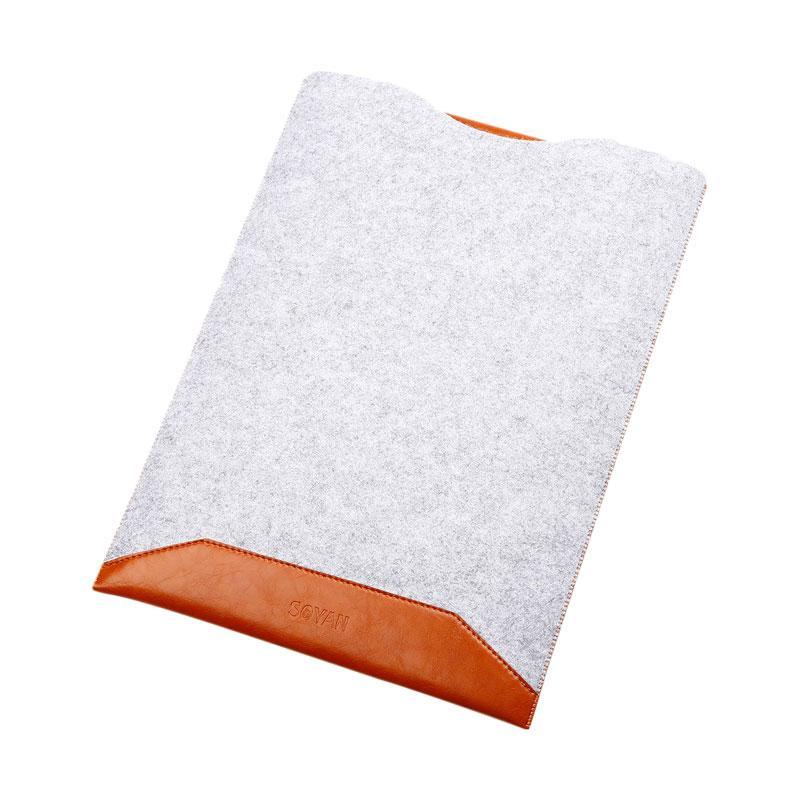New Microfiber Sofcase Sleeve Case for Macbook Pro Retina - Brown [15.4 Inch]
