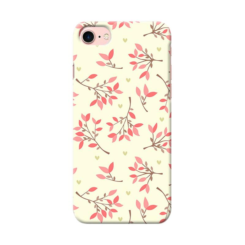 Premiumcaseid Cute Floral Seamless Shabby Hardcase Casing for iPhone 7