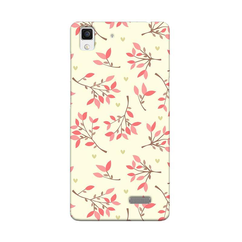 Premiumcaseid Cute Floral Seamless Shabby Hardcase Casing for Oppo R7