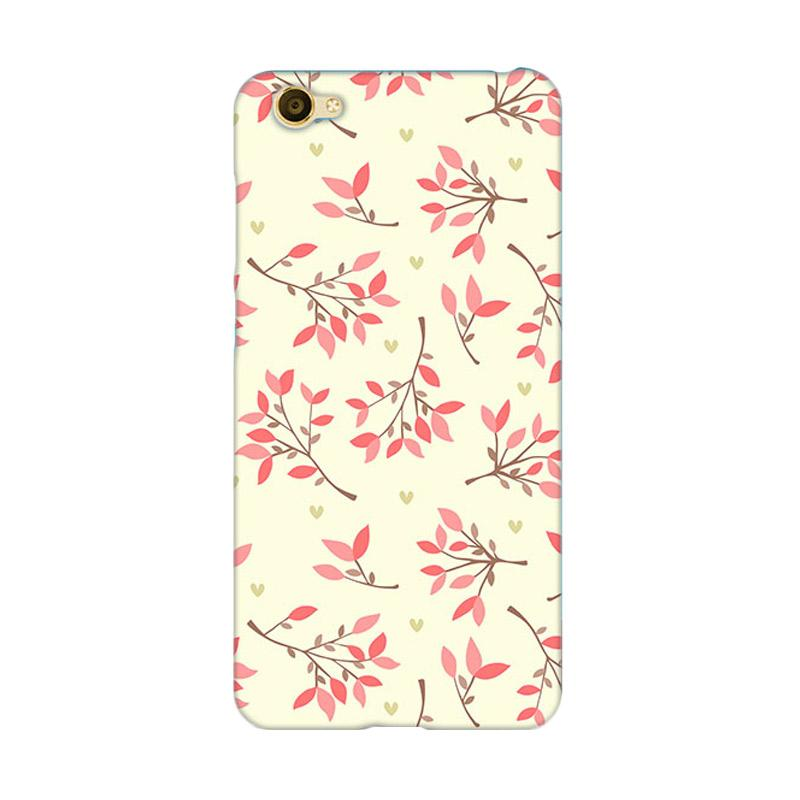 Premiumcaseid Cute Floral Seamless Shabby Hardcase Casing for Vivo Y55