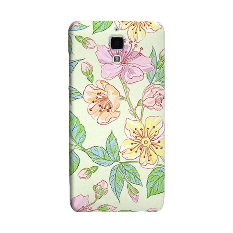 Premiumcaseid Beautiful Flower Wallpaper Hardcase Casing for Xiaomi Mi 4