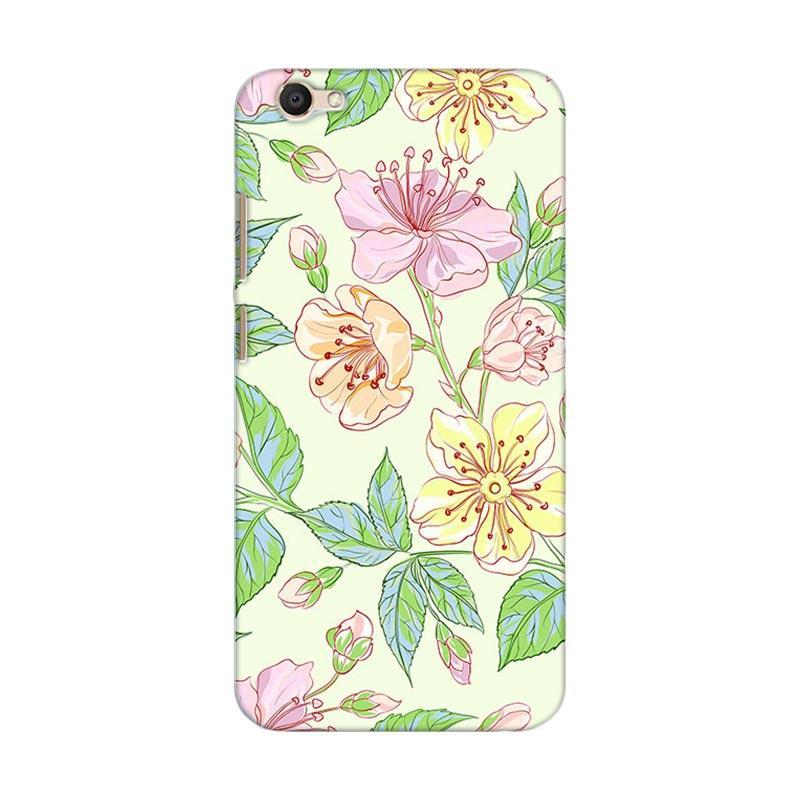 Premiumcaseid Beautiful Flower Wallpaper Hardcase Casing for Vivo V5 Plus