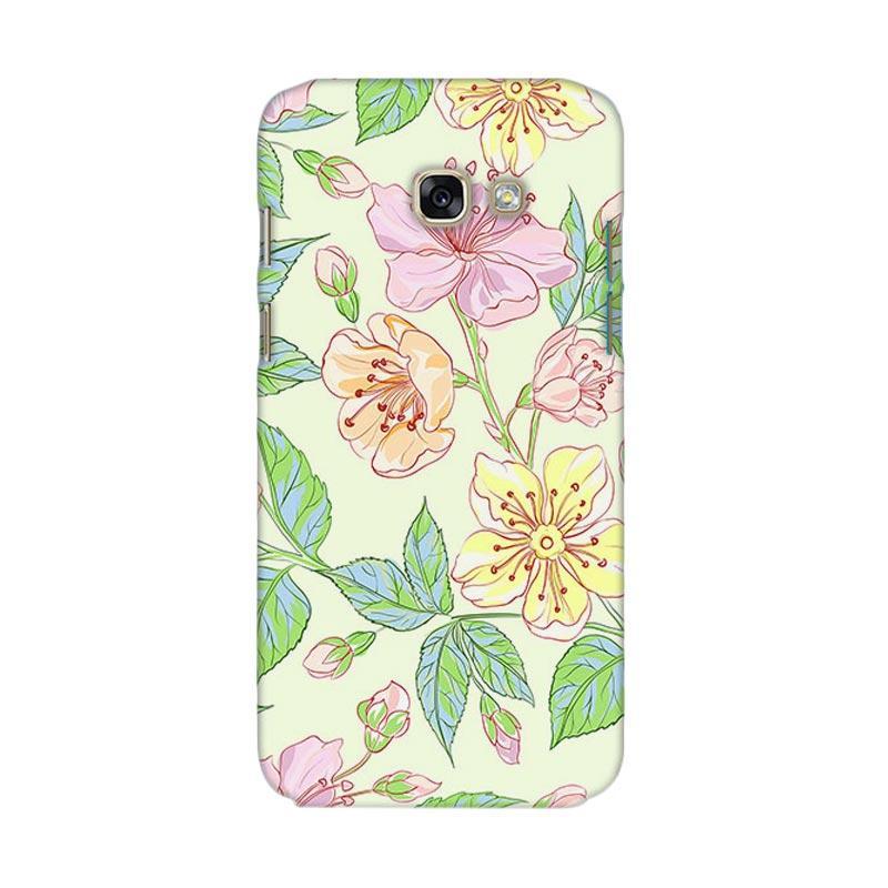 Premiumcaseid Beautiful Flower Wallpaper Hardcase Casing for Samsung Galaxy A7 2017