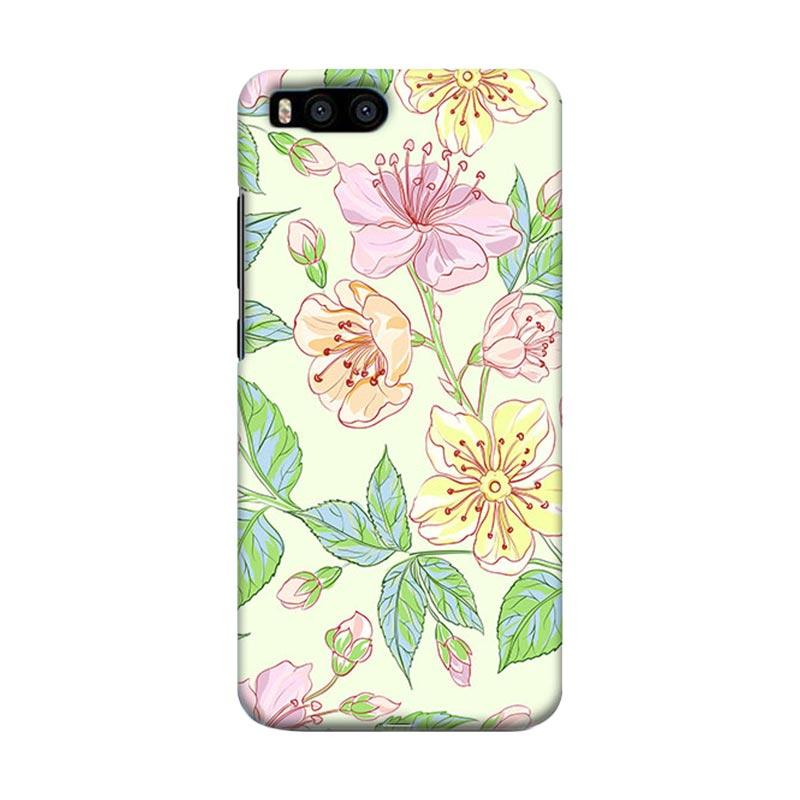 Premiumcaseid Beautiful Flower Wallpaper Hardcase Casing for Xiaomi Mi 6