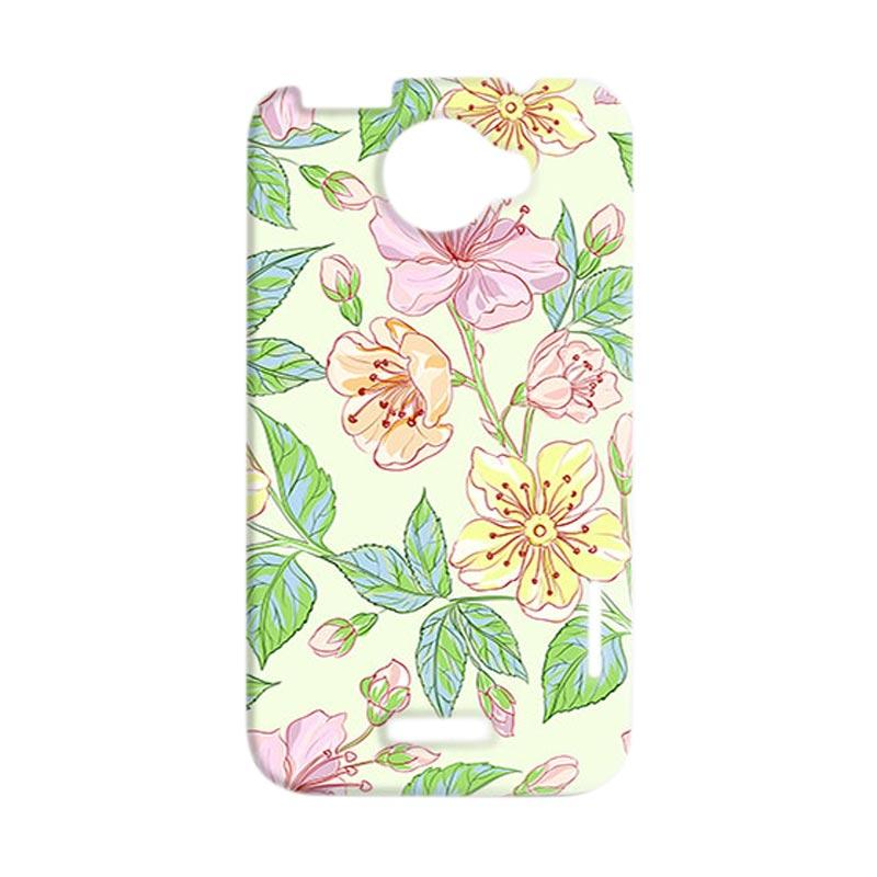 Premiumcaseid Beautiful Flower Wallpaper Hardcase Casing for HTC One X