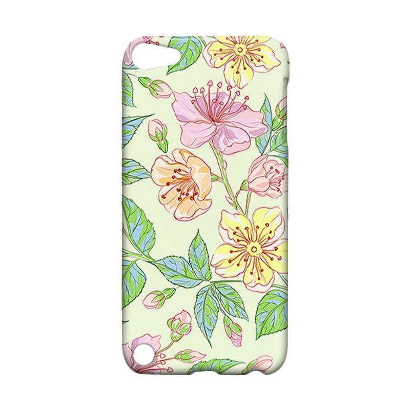 Premiumcaseid Beautiful Flower Wallpaper Hardcase Casing for iPod 5