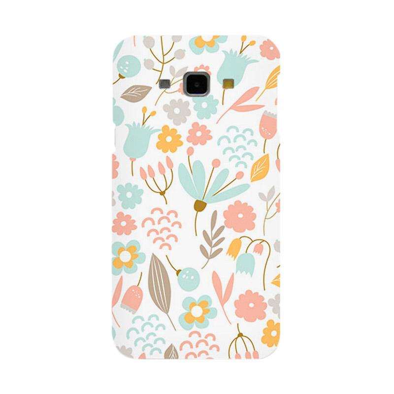 Premiumcaseid Cute Pastel Shabby Chic Floral Hardcase Casing for Samsung Galaxy A8