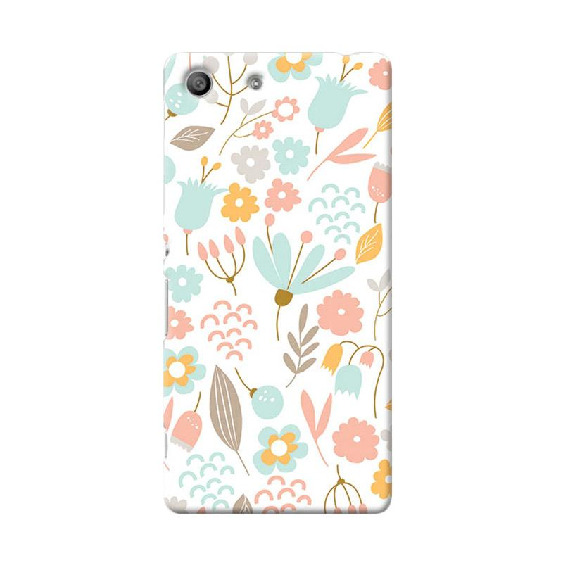 Premiumcaseid Cute Pastel Shabby Chic Floral Hardcase Casing for Sony Xperia M5