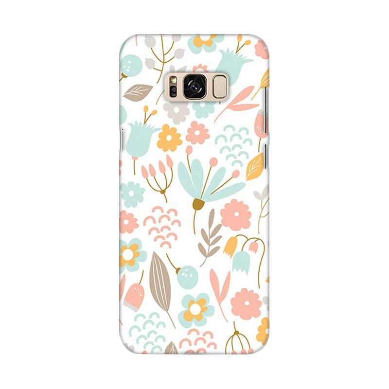 Premiumcaseid Cute Pastel Shabby Chic Floral Hardcase Casing for Samsung Galaxy S8 Plus