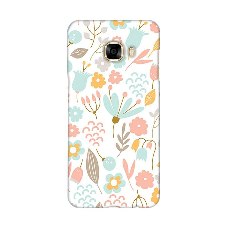 Premiumcaseid Cute Pastel Shabby Chic Floral Hardcase Casing for Samsung Galaxy C7 Pro
