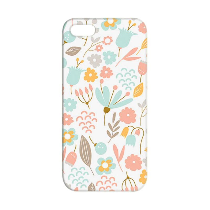 Premiumcaseid Cute Pastel Shabby Chic Floral Cover Hardcase Casing for iPhone SE