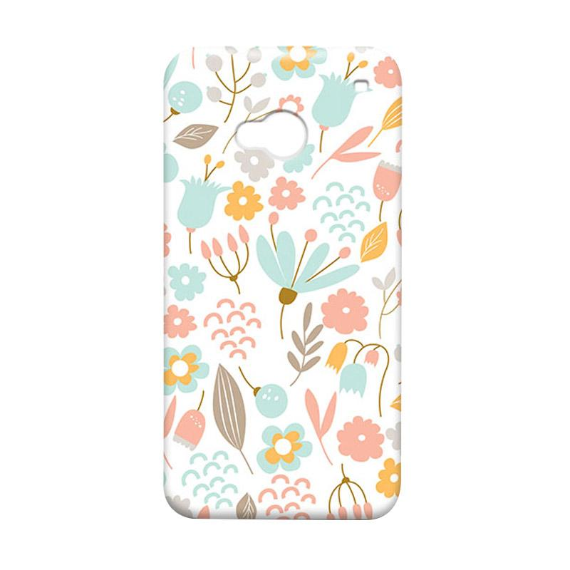 Premiumcaseid Cute Pastel Shabby Chic Floral Cover Hardcase Casing for HTC One M7