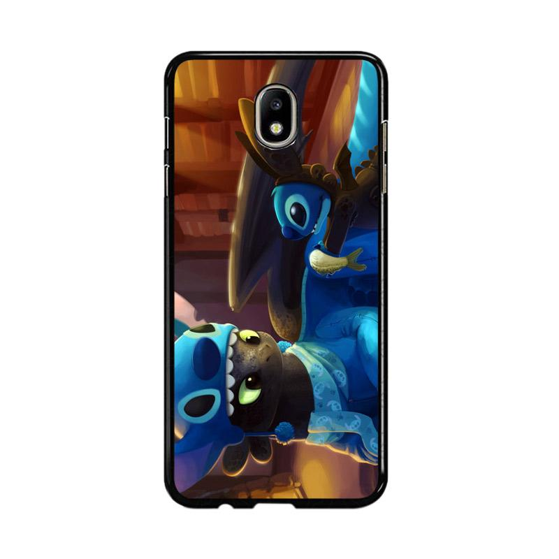 Flazzstore Toothless And Stitch Parody Z0364 Custom Casing for Samsung Galaxy J7 Pro 2017
