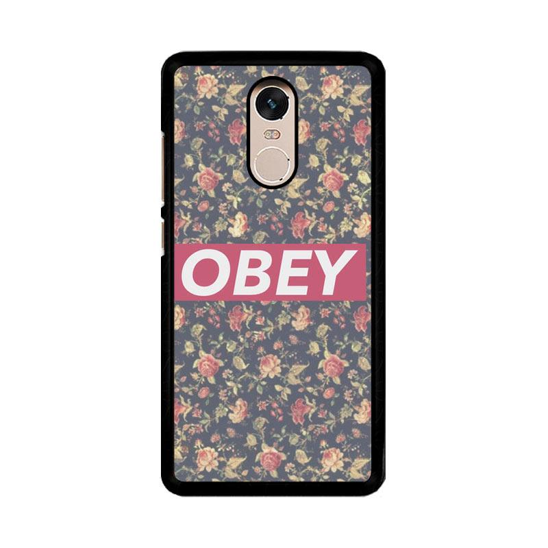 Flazzstore Obey Floral O0727 Custom Casing for Xiaomi Redmi Note 4 Note 4X Snapdragon Mediatek