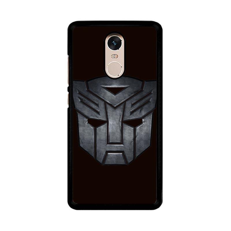 Flazzstore Transformers Autobots Icon Black F0242 Custom Casing for Xiaomi Redmi Note 4 or Note 4X Snapdragon Mediatek