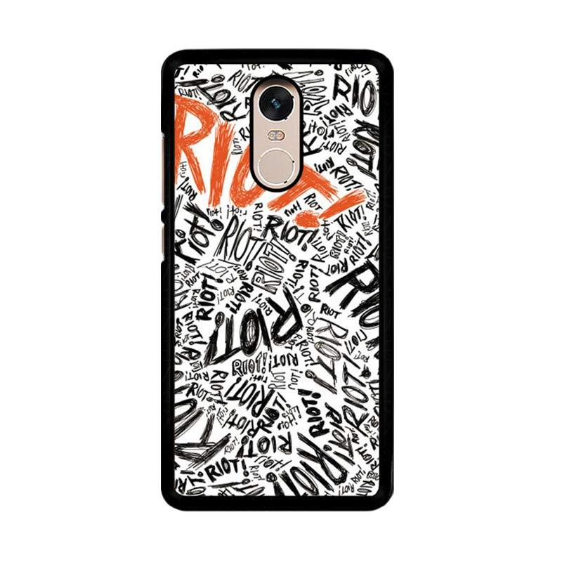 Flazzstore Paramore Riot Quote Art F0587 Custom Casing for Xiaomi Redmi Note 4 or Note 4X Snapdragon Mediatek